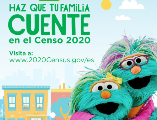 """Afiche y Ficha de Datos: """"Haz Que Tu Familia Cuente"""" por Sesame Street"""